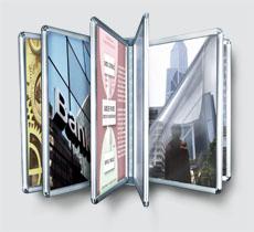 Prezzi vendita espositori a libro a parete espositori - Montaggio porta a libro ...